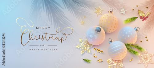Photographie Christmas and New Year banner