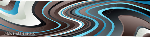 Canvas Horizontal wide format rectangular wavy, waving, twisted, spiral lines