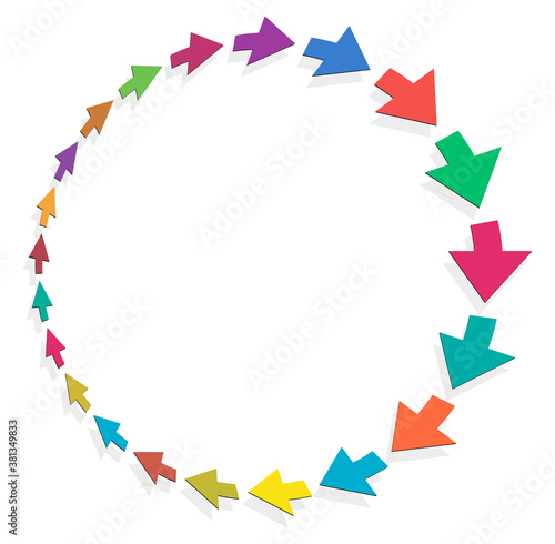 Photo cycle and cyclical arrows