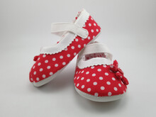 Red Polka Dots Baby Shoes