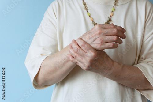 Elderly pain Canvas Print