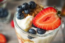 Milk Dessert With Strawberries...