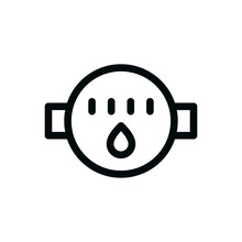 Flow Water Meter Isolated Icon...