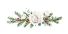 Watercolor Vector Christmas Wr...