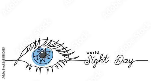 Fotografija Worlad sight day minimalist web banner, background, poster
