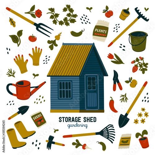 Cuadros en Lienzo Storage shed