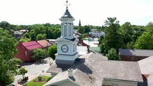 Aerial Rise And Tilt Down With McMurrin Hall In Shepherdstown, WV.