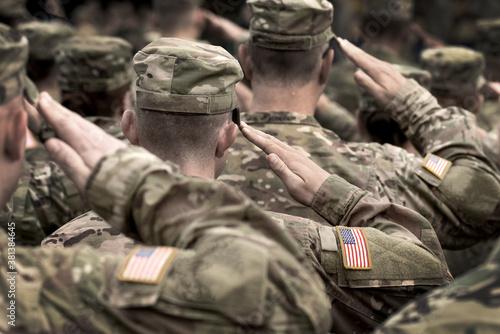 US soldier salute Canvas