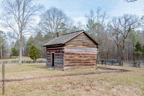 Log Cabin on the Chickamauga Battlefield Fototapet