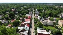 Low Aerial View Up German Street In Shepherdstown, WV.