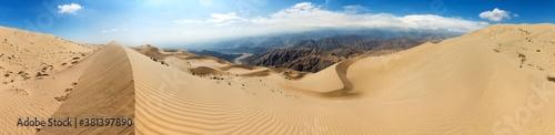 Fotografie, Obraz Cerro Blanco sand dune near Nasca or Nazca town in Peru