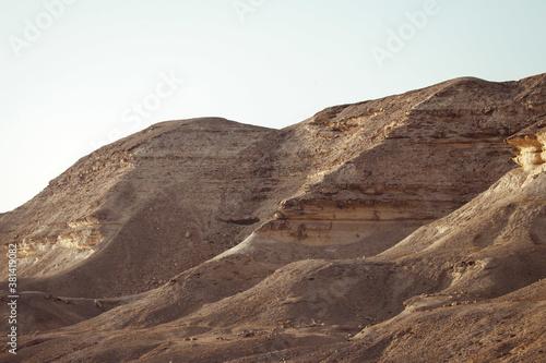 Fotografie, Tablou Sunny landscape of a dry desert landscape