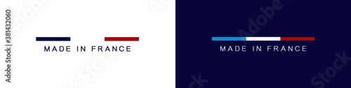 Obraz MADE IN FRANCE - LOGO - LABEL - BLUE - fototapety do salonu