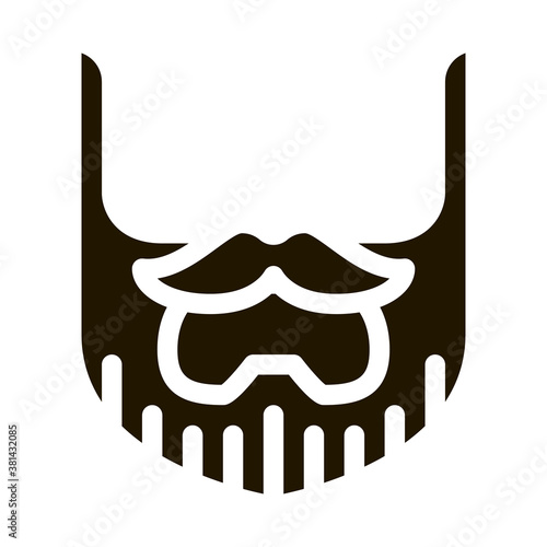 Photo Beard Mustache Whisker glyph icon vector