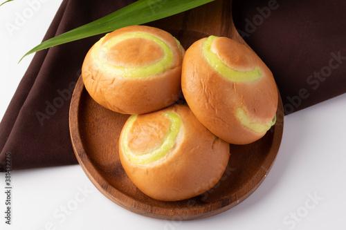 Bread stuffed with custard Thai style bread Poster Mural XXL