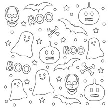 Halloween Coloring Page. Creat...