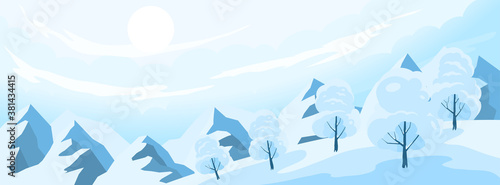 Winter Landscape Background Fototapet