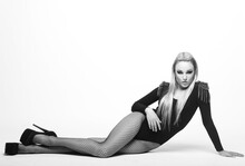 Beautiful Woman In Underwear Posing In Studio