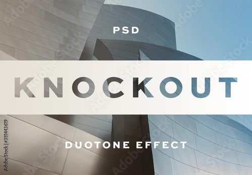 Knockout Text Effect Logo Mockup