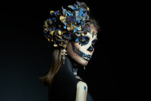 Halloween Beauty Portrait Of A...