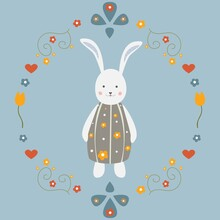 Cute Bunny Character For Cards...