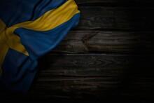 Nice Dark Image Of Sweden Flag...