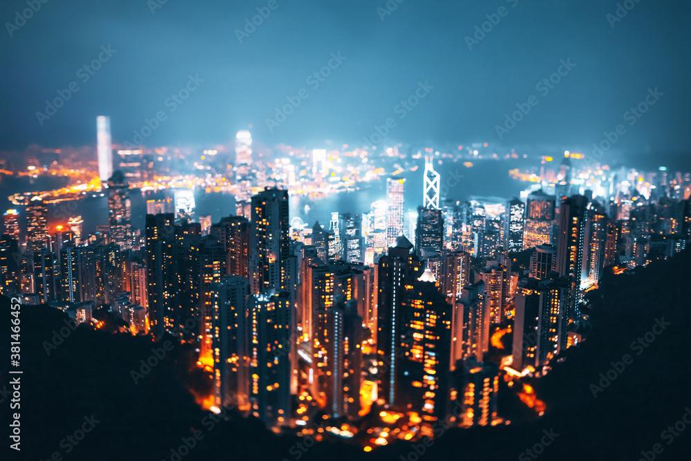 Fototapeta Hong kong from the Victoria peak