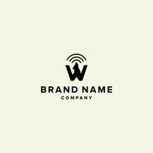 W Logo Vector WOLF Alphabet Icon Illustrations