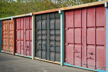 Sea Containers Of Different Co...