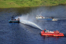 Extinguishing A Fire On A Seagoing Vessel