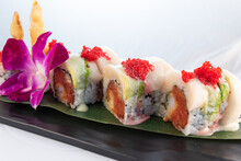 Artistic Sushi Roll With Spicy...