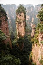 Zhangjiajie Mountain At Wulingyuan Scenic Area In Hunan - China