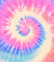 Spiral Tie Dye Wallpaper. Swirl Tiedye Background In Pink Blue And Green. Boho Hippie Tie-dye Pattern.