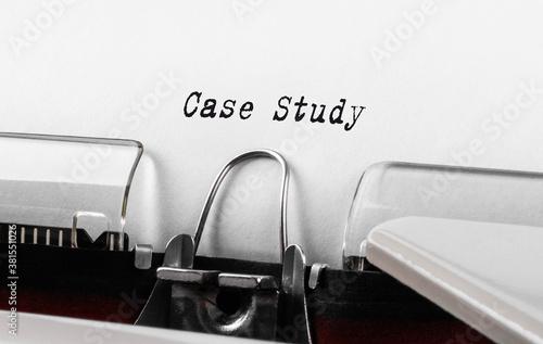 Text Case Study typed on typewriter Fotobehang