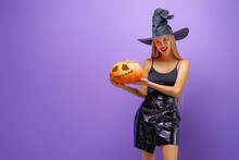 Woman In Black Witch Costume
