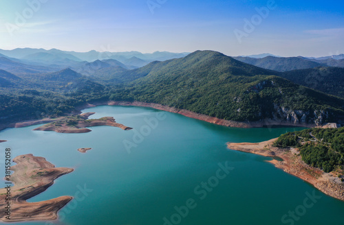 Kruščica lake is the accumulation lake that was built by damming Lika river Canvas Print