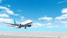Modern Airplane Taking Off Air...