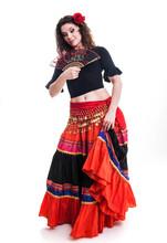 Beautiful Young Female Flamenc...