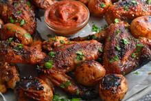 Chicken Wings Baked In Soy-hon...