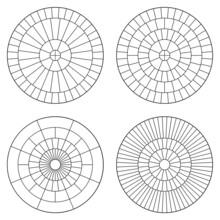 Set Of Circular Mosaic Paving ...