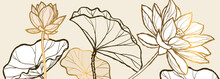 Luxury Brown Lotus Background ...