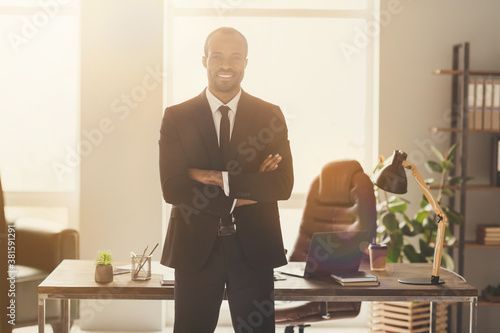 Fotomural Portrait of his he nice attractive classy chic elegant content skilled bearded c