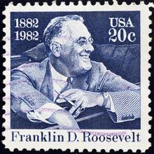 Franklin D.Roosevelt On American Postage Stamp