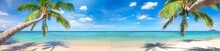 Panorama Of Tropical Beach Wit...