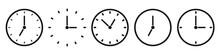 Clock Icons Set - Editable Vec...