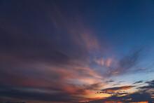 Sunset In The Sky On Twilight ...
