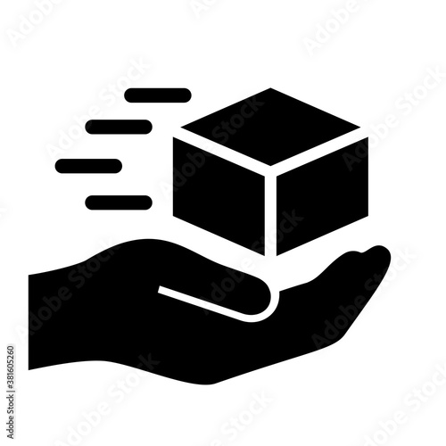 Cuadros en Lienzo Fast and careful delivery service icon