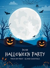 Halloween Party Flyer Template...