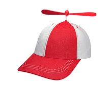 Propeller Cap Red And White With Clasp Isolated On White Background, 3D Render