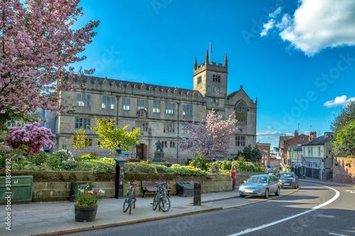 Cuadros en Lienzo SHREWSBURY, UNITED KINGDOM - May 05, 2018: Shrewsbury, UK - 5 May, 2018: Shrewsb